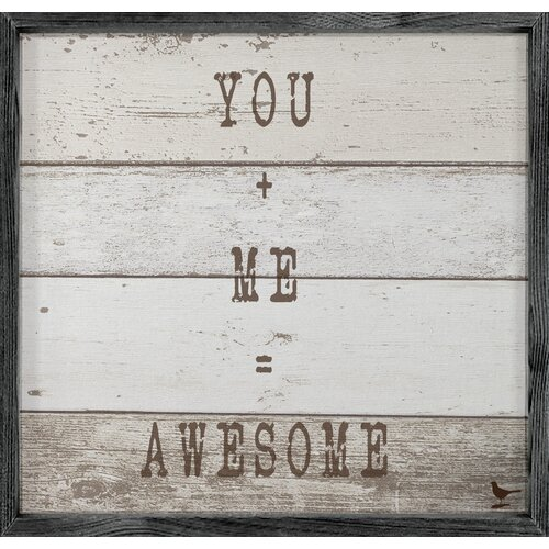 Magnet Art Print You and Me = Awesome Framed Wall Art
