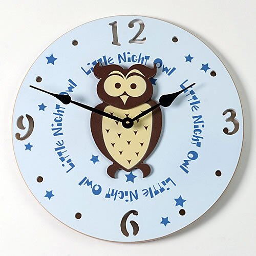 """Forest Creations 18"""" Owl Wall Clock"""