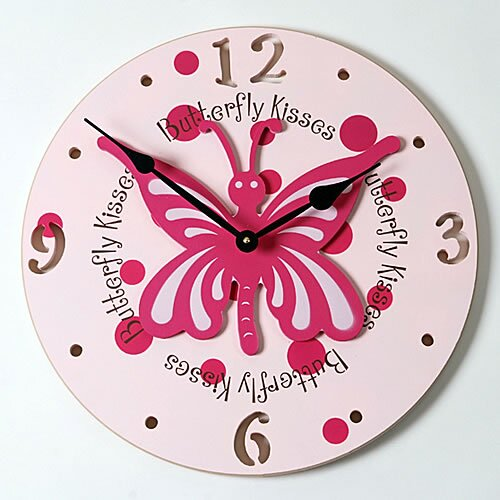 "Forest Creations 18"" Butterfly Wall Clock"