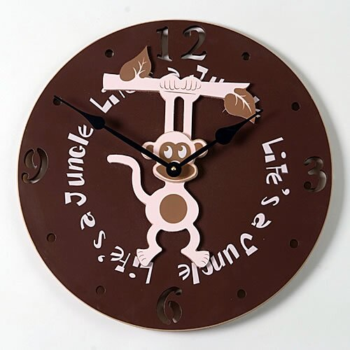 "Forest Creations 18"" Hanging Monkey Wall Clock"