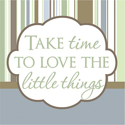 Take Time to Love the Little Things Kids Textual Art on Canvas