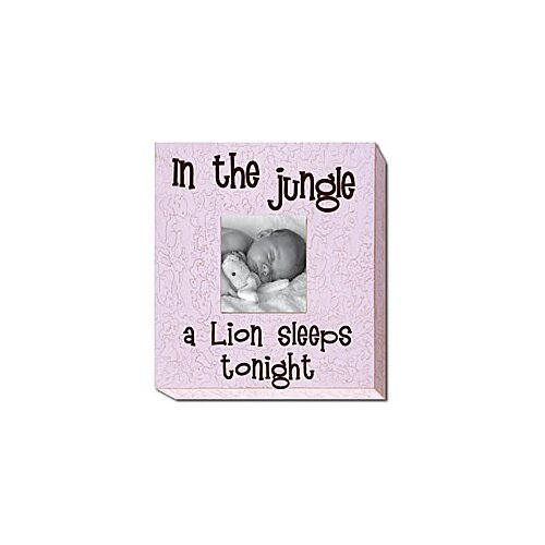 In the Jungle a Lion Sleeps Tonight Picture Frame