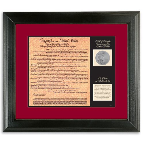American Coin Treasures Birth of a Nation Bill of Rights Wall Framed Memorabilia