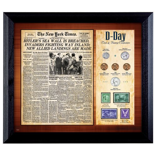 New York Times D Day Framed Memorabilia