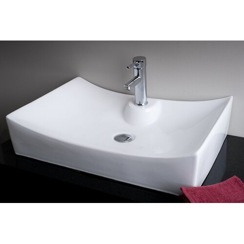 Rectangular Single Hole Bathroom Sink