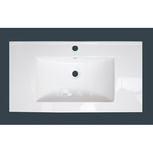 "IMG Roxy 36"" Ceramic Vanity Top with Integrated Bowl"
