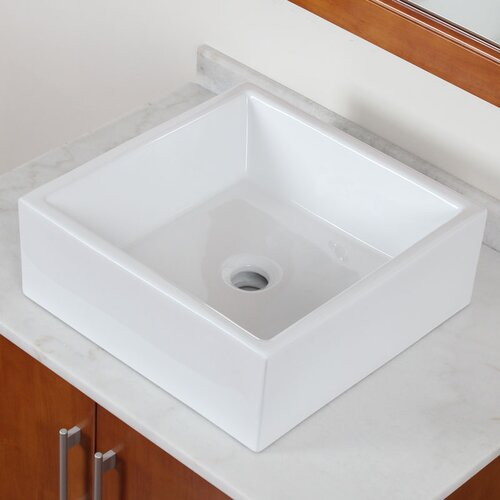 Square Deck Mount Vessel Sink