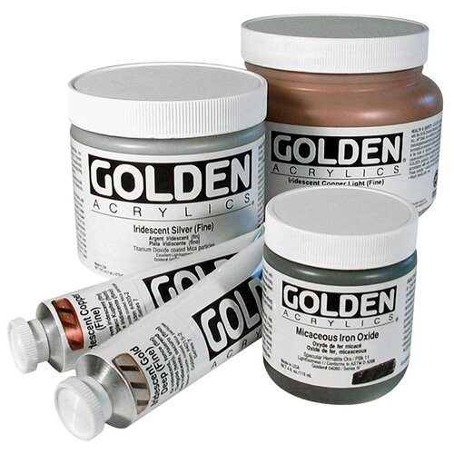 Golden Artist Colors 2 Oz Heavy Body Iridescent Color Acrylic Paint