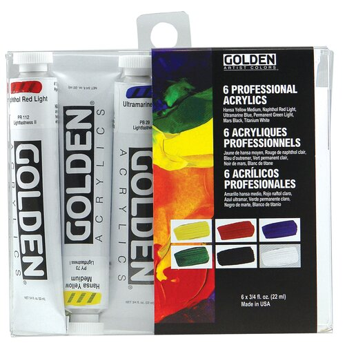 Golden Artist Colors 6 Piece Acrylic Introductory Set