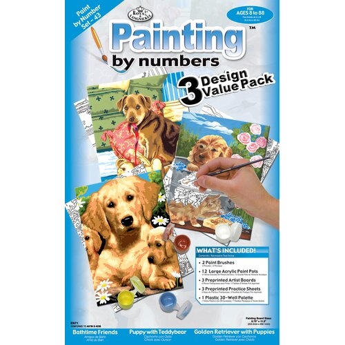 Royal & Langnickel Painting by Numbers Dog Junior Value