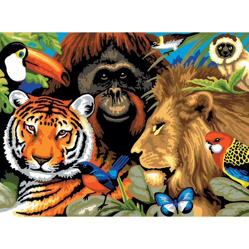 Royal & Langnickel Painting by Numbers Large Safari Scene Junior Set