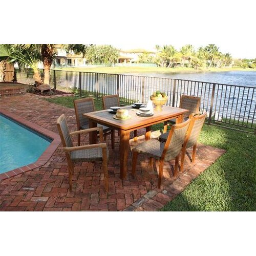 Panama Jack Outdoor Leeward Islands 7 Piece Dining Set