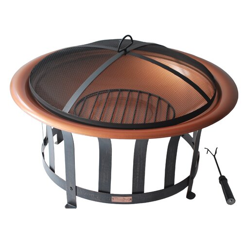 Panama Jack Outdoor Copper Plated Fire Pit