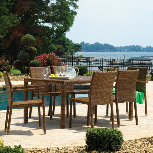 Panama Jack Outdoor St Barths 7 Piece Dining Set