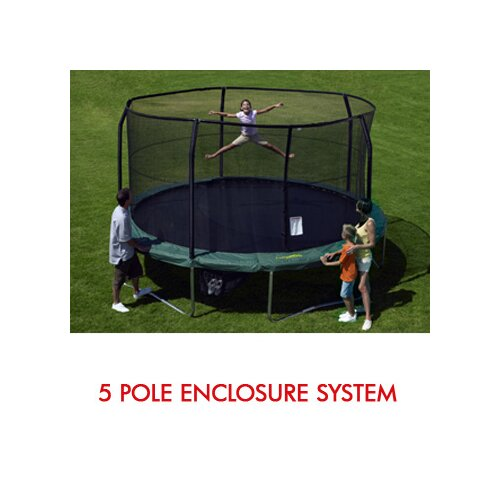 SKYBOUND 15' Enclosure Trampoline Net Using 5 Poles