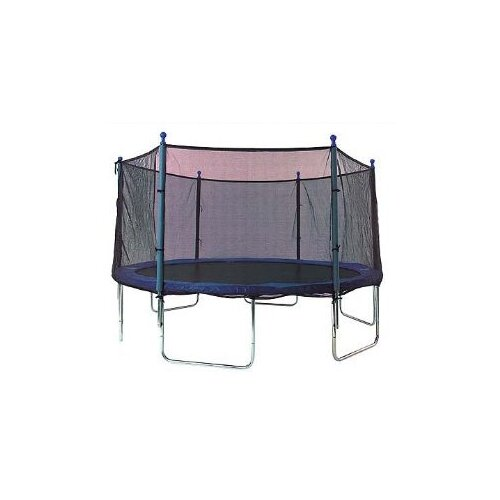 SKYBOUND 13' Enclosure Trampoline Net Using 6 Straight Curved Poles