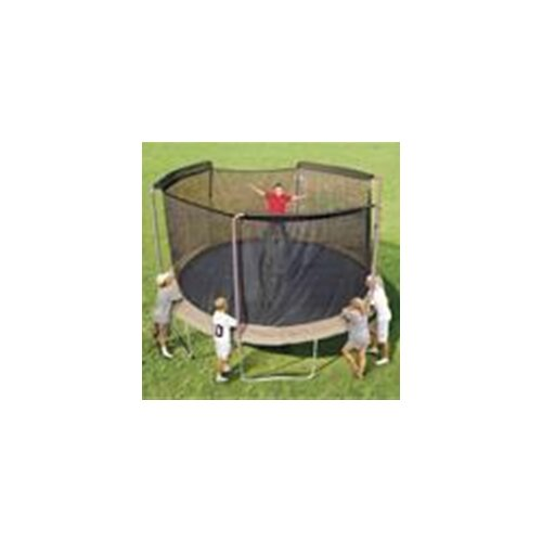 SKYBOUND 14' Enclosure Trampoline Net Using 3 Arches