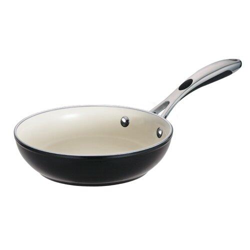 Ceramica 01 Deluxe Porcelain Enamel Metallic Black Fry Pan