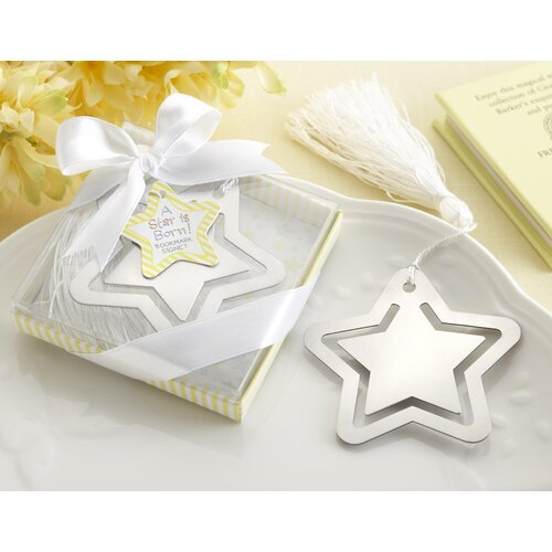 Kate Aspen ''A Star is Born!'' Bookmark with White-Silk Tassel