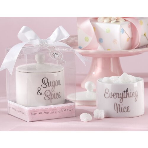 Kate Aspen Baby Shower Sugar, Spice and Everything Nice Sugar Bowl with Lid