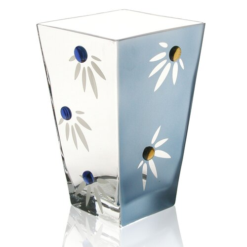 Womar Glass Hand Painted Glass Love-me-not Series Vase