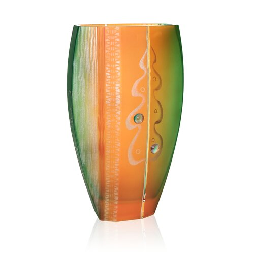 Womar Glass Holiday Vase