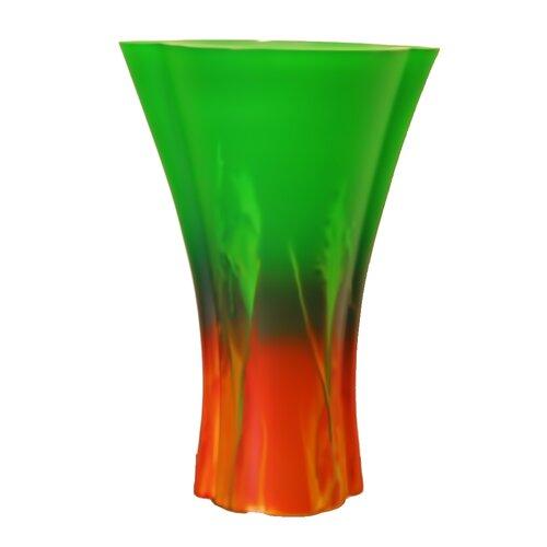 Hand Painted Glass Sunrise Series IV Vase