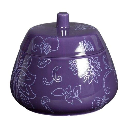 Fine Lines Ceramic Jar