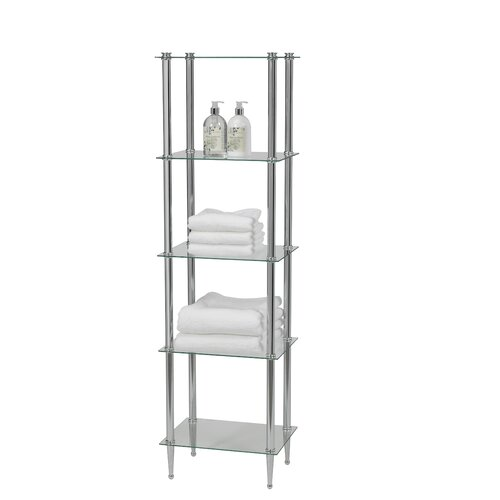 "Creative Bath 16"" x 54"" 5 Shelf Tower"