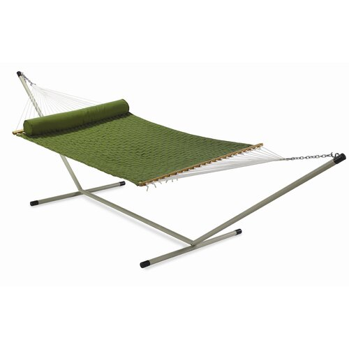 Twotree Hammocks Large Soft Comb Quilted Hammock with Stand and Pillow
