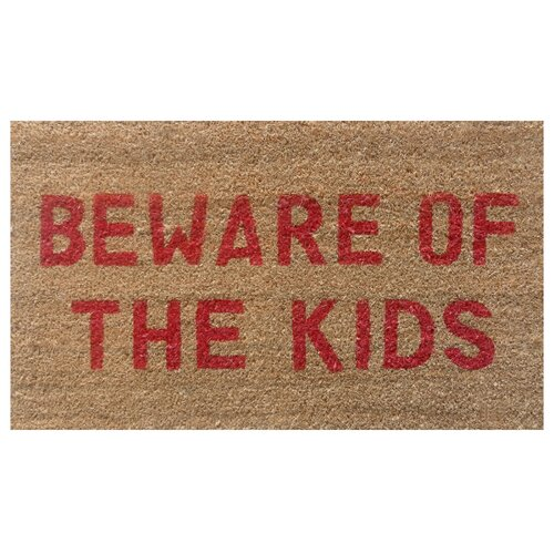 Beware of the Kids Doormat