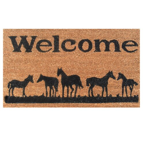 Home & More Horses Welcome Doormat