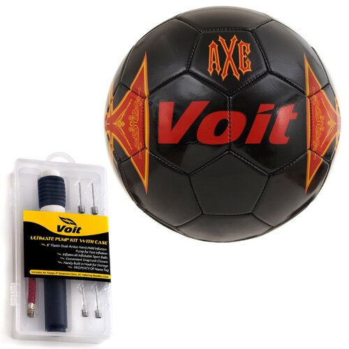 Voit Axe Soccer Ball with Ultimate Inflating Kit