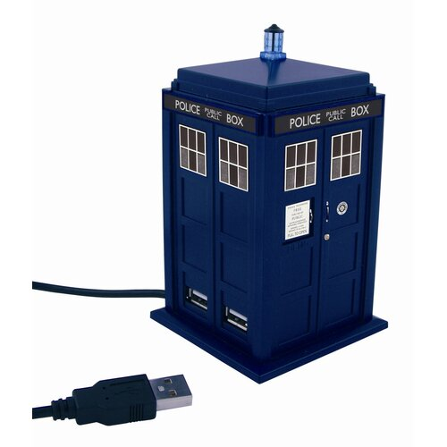 Underground Toys Doctor Who Tardis 4 Port USB Hub Station