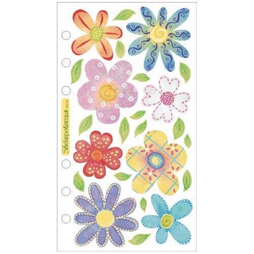 Sticko Vellum Pastel Flowers Sticker