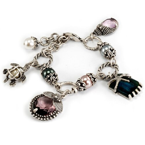 Sweet Romance Nautical Beachcomber Charm Bracelet