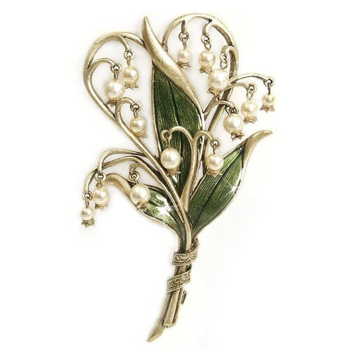 Sweet Romance Lily of the Valley Brooch