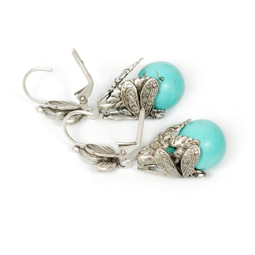 Dragonfly Turquoise Drop Earrings