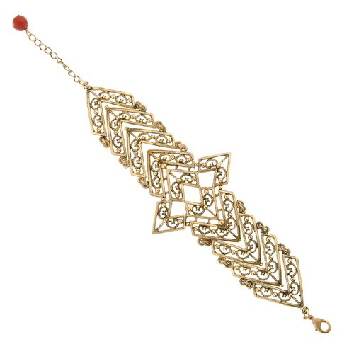 T.R.U. Jewelry Filigree Chevron Link Bracelet