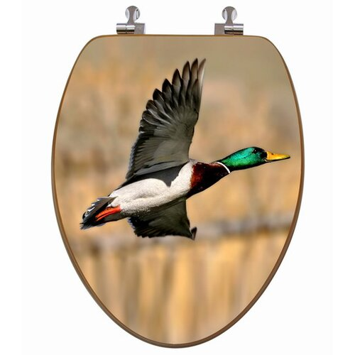 3D Upland Series Mallard Duck Flying Elongated Toilet Seat