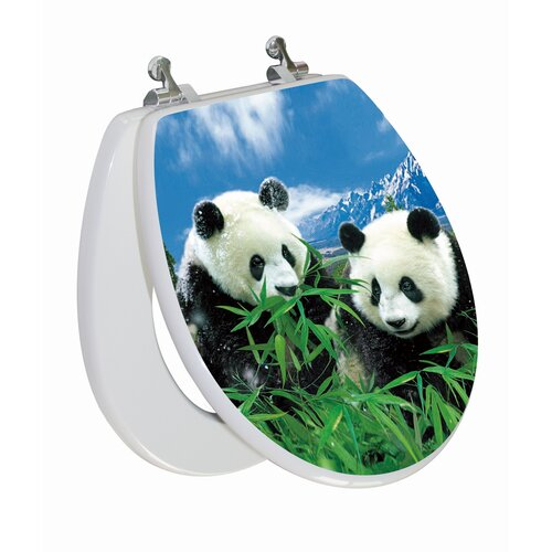 Topseat 3D Series Panda Round Toilet Seat