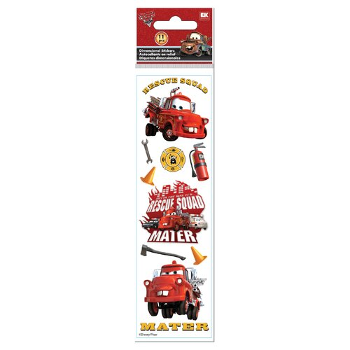 EK Success Disney 3D Slim Stix Cars Rescue Sticker