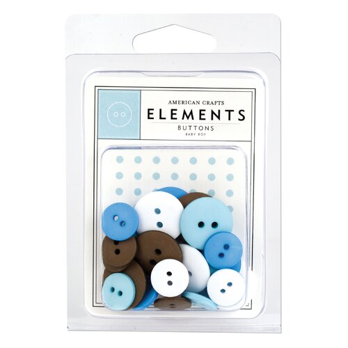 American Crafts Round Buttons Variety Pack