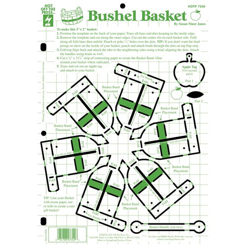 Hot Off the Press Bushel Basket Template