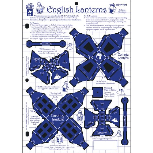 Hot Off the Press English Latterns Template