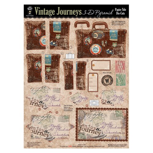 Hot Off the Press Vintage Journeys 3-D Paper Tole Die-Cuts