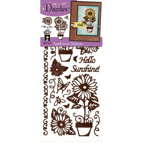 Dazzles Sunflower Stickers