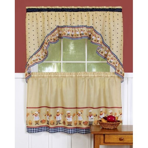 "Achim Importing Co Cucina 57"" Valance and Tier Set"