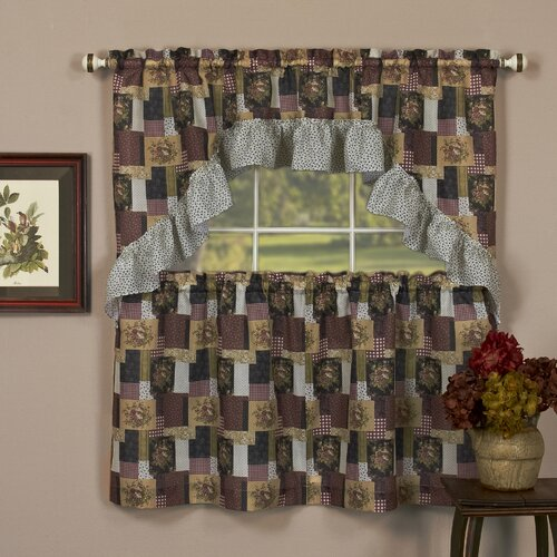"Achim Importing Co Patches 57"" Valance and Tier Set"