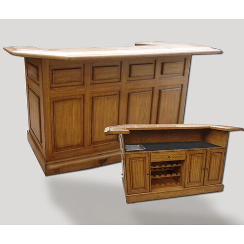 Belvedere Oak Series Home Bar Wayfair